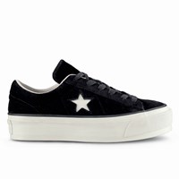 Women's One Star Platform Black Sneaker