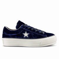 Women's One Star Platform Navy Sneaker