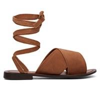 Women's Spiral Cognac Sandal