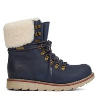 Women's Lethbridge Oil Crazy Horse Navy Boots
