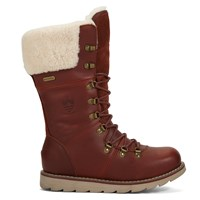 Women's Louise Cognac Distress Leather Boot