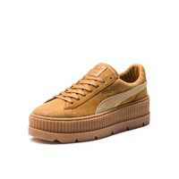 Women's Cleated Creeper Suede Camel Sneaker