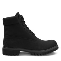 Men's 6 Inch Premium Canvas Black Boots