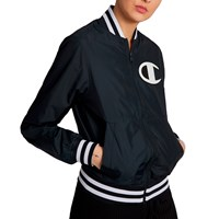 Women's Satin Baseball Jacket