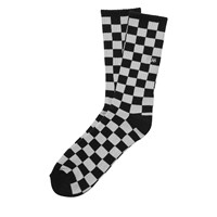Men's Checkerboard II Crew Black Sock