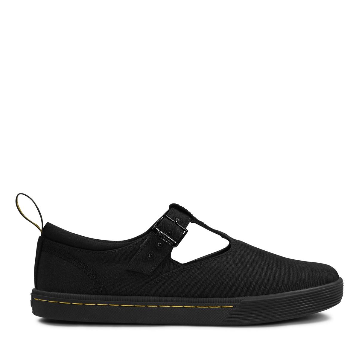 Dr. Martens Womens Winona Black Canvas Shoes 39 EU LU9j38KY