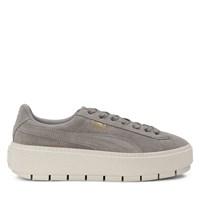 Women's Suede Platform Trace Grey Sneaker