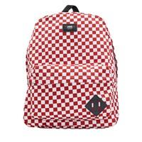 Old Skool II White/Red Checkerboard Backpack