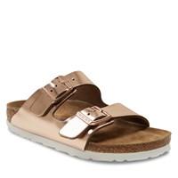 Women's Arizona Soft Sandals in Metallic Copper