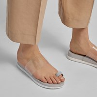 Women's Danava Grey Slide Sandal