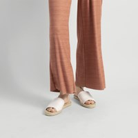 Women's Anya White Flat Sandal