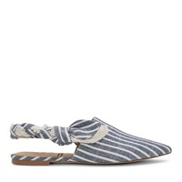 Women's Rivers Sea Blue Stripe Flats