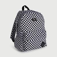 Old Skool II Checkboard Backpack in White & Black