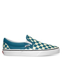 Women's Classic Checkerboard Slip-On in Blue