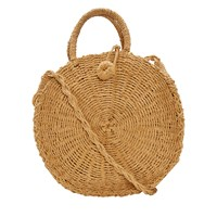 Women's Cora Round Raffia Bag