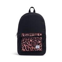 Daypack Backpack in Black and Cheetah Print