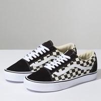 Men's Old Skool Lite Checker Sneaker in Black/White