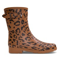 Women's Refined Insulated Short Rain Boots in Brown
