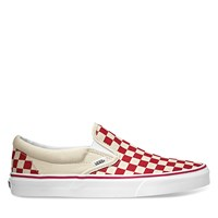 Primary Check Classic Slip-On in Racing Red