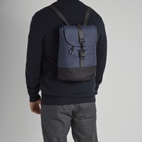Drawstring Backpack in Blue