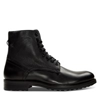 Men's Matteo Lace-Up Boots in Black