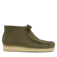 Men's Wallabee Boots in Dark Green