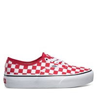 Women's Authentic Platform 2.0 Sneaker in Red Checkerboard