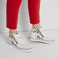 Women's SK8-HI Sneaker in Checker Flame White