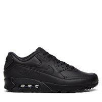 Men's Air Max 90 Black Leather Sneaker
